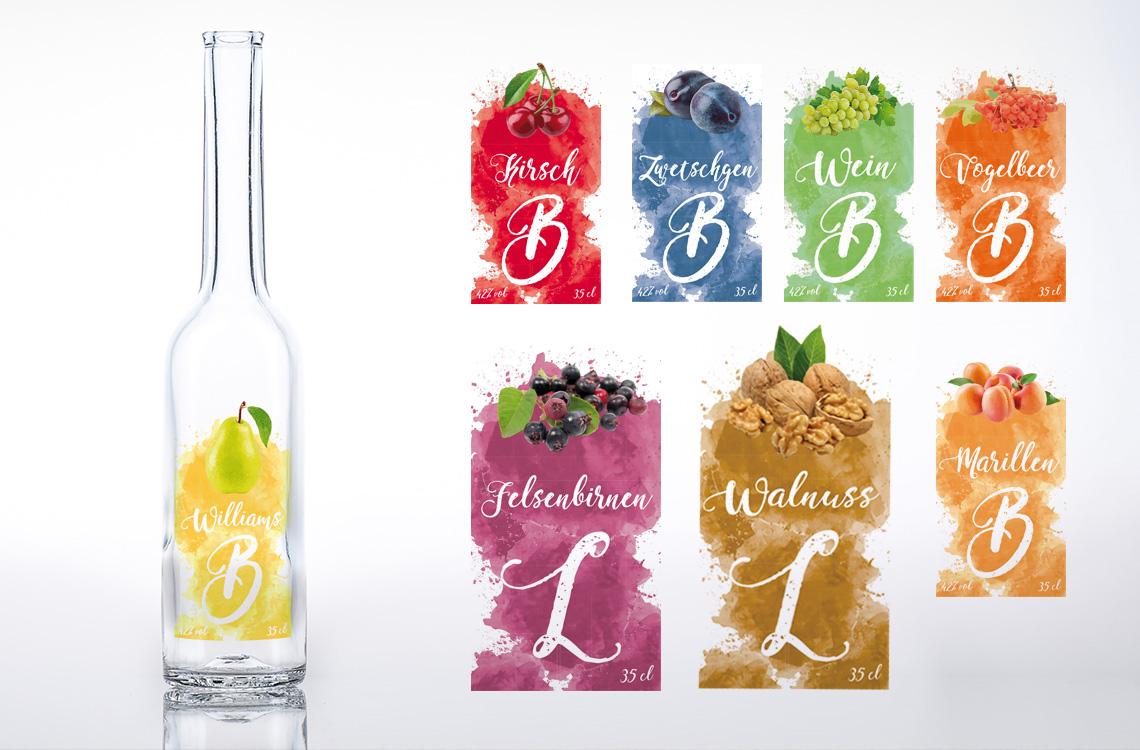 Etiketten Design